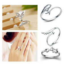 Silver Plating Ring Finger Girl Lady Fashion Rings Opening Adjustable GIFT