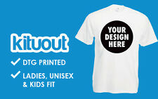 Custom printed T-Shirts Personalised Your Text Here Men Women print Tee S-2XL