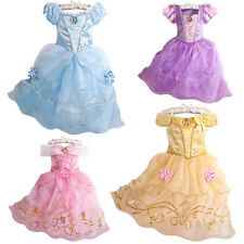 2015 Sandy Girl Princess Cinderella Cosplay Costume Kids Party Fancy Dress 3-8Y