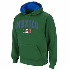 Mexico Green Twill Tailgate Hooded Sweatshirt - Country Flags