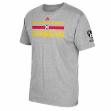 Brooklyn Nets adidas Shanghai Global Game Practice T-Shirt - Gray - NBA