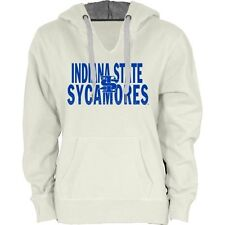 Women's Indiana State Sycamores Cream Likeness Hoodie - College