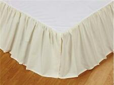 IVORY Twin Queen or King BEDSKIRT : 100% COTTON DUST RUFFLE BED SKIRT CREAM