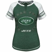 New York Jets Majestic Women's More Than Enough V-Neck T-Shirt - Green - NFL