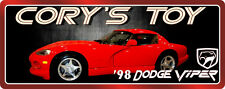 '98 Dodge Viper Personalized Sports Car Sign with Metal Background & Logo C1207