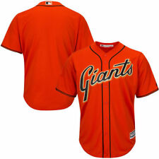 San Francisco Giants Majestic Youth Official Cool Base Jersey - Orange - MLB