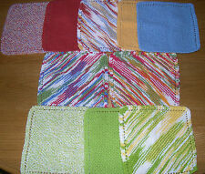 100% COTTON KNITTED DISHCLOTHS IN VARIOUS COLORS-SHIPPING DISCOUNT FOR MULTIPLES