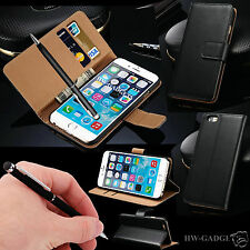 Genuine HandMade Real Leather Wallet Flip Case Cover for Apple iPhone Models