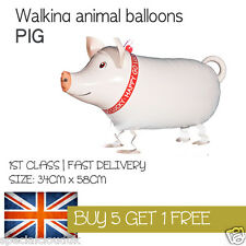 PIG WALKING PET BALLOON ANIMAL AIRWALKER BIRTHDAY KIDS FARM FUN