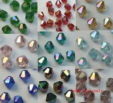 Wholesale 100pcs Loose Glass Crystal Bicone Spacer Beads 4mm A/B Color