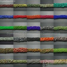 """Natural Gemstones 3.5mm ~ 4mm ~ 4.5mm Round Loose Beads 15"""" ~ 16"""" Pick Stone"""