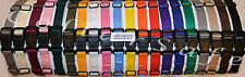 Set of 16 Nylon Puppy Litter Identification Snap Collars ID Identification Bands