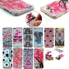 Pattern Silicone Clear Soft TPU Gel Back Cover Case For Samsung Galaxy iPhone LG