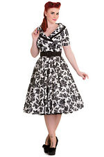 Hell Bunny Rockabilly Retro Vintage Honor Dress Floral Print Pin Up
