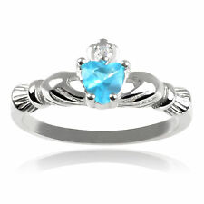 Journee Collection Children's Sterling Silver Cubic Zirconia Claddagh Ring