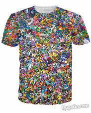 Pokemon Pikachu Eevee Collage 3D T-shirt Man&Woman Short-sleeved T-shirt lovers