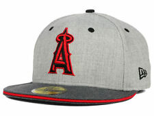 MLB Los Angeles Angels of Anaheim New Era 59FIFTY Fitted Hat Heather Shadow