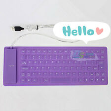 85-Keys USB Mini Small Flexible Silicone Keyboard For Computer Laptop Colours