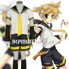 Vocaloid Kagamine Len Cosplay Costume Anime Full Set FREE P&P
