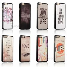 Life Inspirational Quotes Hard Back Cover Case For Apple iphone 4 4s 5 5c 5s SE