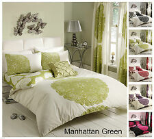 Manhattan Reversible Duvet Quilt Cover Set & Pillowcase , All Sizes