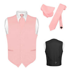 Men's Dress Vest NeckTie DUSTY PINK Neck Tie Set for Suit or Tuxedo