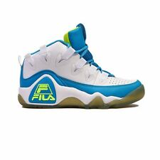 "Fila 95 ""Grant HIll"" (White/Atomic Blue/Safety Yellow) Men's Shoes 1VB90106-167"