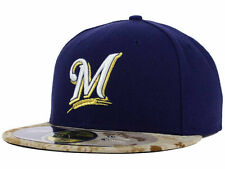 Official  2015 Milwaukee Brewers Memorial Day Stars Stripes New Era 59FIFTY Hat