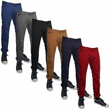 MENS CHINOS JEANS SLIM FIT SPRINGFIELD REGULAR ROLLUP TROUSERS HEM FASHION PANTS