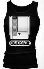 Blow Me- Video Games Nintendo Cartridge Funny  Boy Beater Tank Top