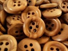 ITALIAN OLIVE NATURAL WOODEN 4 HOLE BUTTONS 15mm-26mm W1079 - MADE IN ITALY