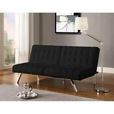 Convertible Futon Sofa Bed Sleeper Couch Furniture Lounger Living Room Leather