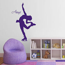 Personalised Ice Skater Wall Sticker– Girl's Name Wall Sticker