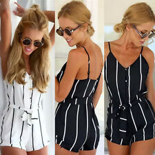 Summer Women Clubwear V Neck Playsuit Bodycon Party Jumpsuit Romper Trousers New