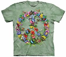 Butterfly Dragon Peace Dye Authentic The Mountain Adult T-Shirt