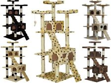 "72"" Cat Tree Condo House Kitty Scratching Post Trees Condos Towers Furniture"