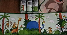 Monkey Wallpaper Border Jungle Safari Kingdom Sahara DYR Saturday Knight Kohls