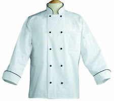 Chef Coats, White, Black Piping, Black Knot Buttons-Irregulars-408