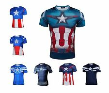 Superhero Avengers Costume Tee Shirt Sports Cycling Outdoor Jersey T-Shirts Tops