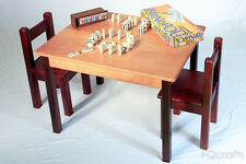 Wooden Kids Table and Two Chairs Set - perfect for learning and entertainment