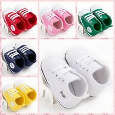 HOT Blue/Red Baby Infant Boy Girl Soft Non-Slip Crib Shoes Sneaker Newborn #BU53