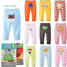 4 pack Lot Boy Girls Summer Clothes Infant Pants Cotton Toddler Baby Pants V24
