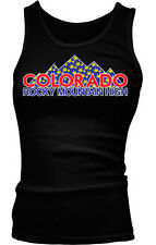 Colorado Rocky Mountain High Funny Marijuana Pot Boy Beater Tank Top