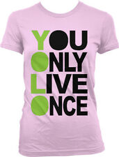 YOLO- You Only Live Once Oversized Design- Hot Trendy Juniors T-shirt