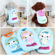 Teacup Dog Small Pet Puppy Cotton Clothes T-shirt Vest Apparel Costume Chihuahua