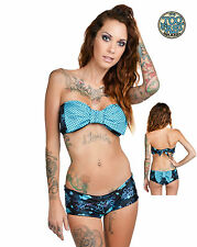 TOO FAST ARIEL GALAXY SWIMSUIT SWIM SUIT TATTOO PIN UP 50'S ROCKABILLY BIKINI