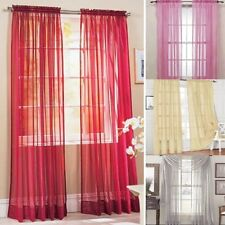 19 Colors Solid Sheer Voile Room Door Window Curtain Panel Drape Assorted Scarf