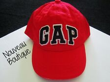 Boys BABY GAP Applique Logo Baseball Cap/Hat Red NEW 3M/6M/12M/ 2T 3T 4T 5T