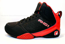 AND1 Boys Mid Basketball/Athletic Shoes Sneakers FURY Black/Red New with Box
