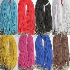 5/10 pcs Man-made Leather Braid Rope Hemp 3mm Cords Fit Necklace Choose Color